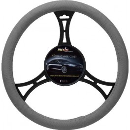 9025 Sport Leatherette Steering Wheel Cover Medium Grey