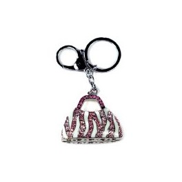 9651 Large Purse - Pink-Ice Crystals Key Chain