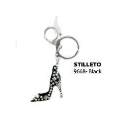 9668 Black Stiletto Key Chain