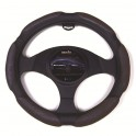 9042 Ergo Supreme Steering Wheel Cover Medium Black