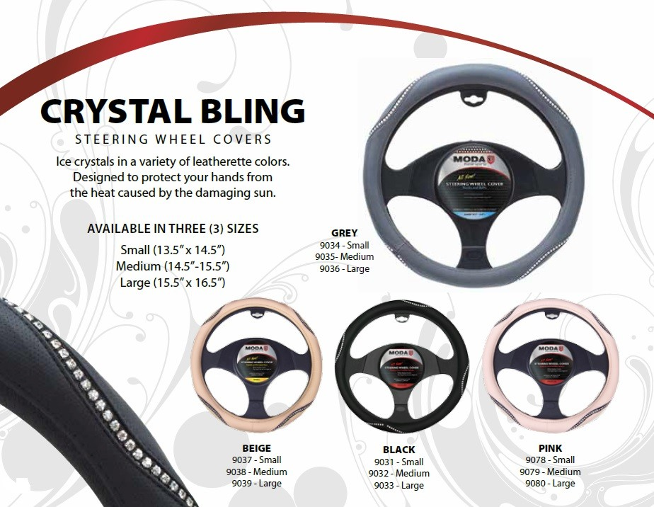 Moda Crystal Bling Steering Wheel covers